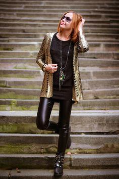 Golden knight (of Cydonia) | gvozdiShe Golden Knights, Personal Style, Leather Pants, Asos, Trousers, Punk, Skinny, Jewels, Stylish