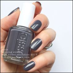 """Essie """"Winning Streak"""" from the Wild Nudes Collection 2017 - dark dusty blue grey #nail polish / lacquer / vernis 