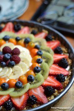 Tarte fruits et yaourt