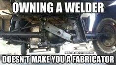 John Deere - New Holland - Massey Ferguson and Welding Memes, Welding Rigs, Metal Welding, Welding Funny, Welding Tools, Welding Art, Welder Humor, Mechanic Humor, Welding Classes