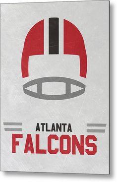 Falcons Metal Print featuring the mixed media Atlanta Falcons Vintage Art by Joe…