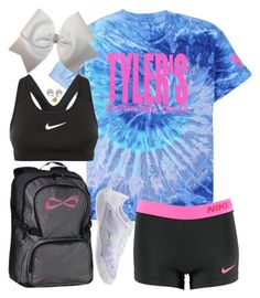 """Cheer Practice tomorrow! So pumped!"" by simply-makayla ❤ liked on Polyvore featuring Mikimoto and NIKE"
