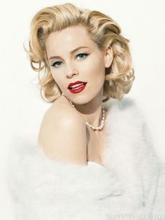 """Elizabeth Banks, photographed in an homage to Marilyn Monroe, whose letters she reads in the forthcoming documentary """"Thoughts from Fragments""""."""