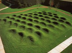 Wave Field. Maya Lin. 1995; Earth, Grass; Earthwork. North Campus; Courtyard, SE…