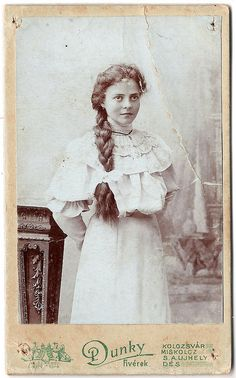 vintage cabinet card - get rid of the girl & you have a great aged paper background