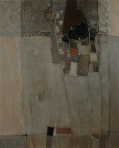 Catherine Severac ... atelier: X - 100x81 - huile sur toile