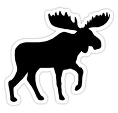 Moose Silhouette stickers, t-shirts, and electronics cases #moose