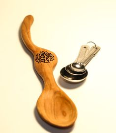 Handcrafted Large Cherry Wood Serving Spoon - Functional Art Spoon on Etsy, $39.00