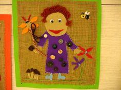 Ompeluharjoitusta Crafts To Do, Arts And Crafts, Kindergarten Art, Blanket Stitch, Textile Fabrics, Working With Children, Diy For Kids, Troll, Little Ones