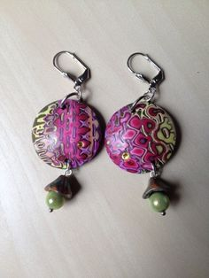 Paire de boucles d'oreille en argile polymère : Autres bijoux par arliane