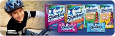 SHARKIES ORGANIC FRUIT CHEWS   USDA Certified Organic,   100% Vitamin C  No High Fructose Corn Syrup  No artificial dyes or flavors  No fat, Free of Wheat, Gluten & Nuts