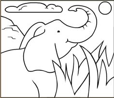 This is called coloring elli. Ask your kid or kids to tell you what this is. Then ask them to color  it.