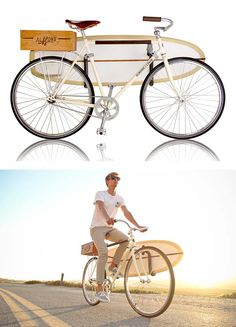 Summer Edition Bicycle     A collaboration between Almond Surfboards and Linus Bikes.