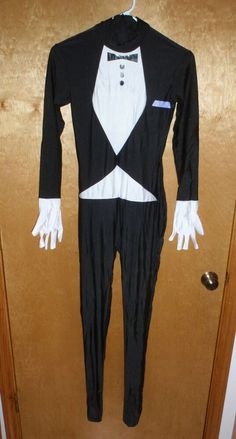 Tuxedo Costume Adult Halloween Cosplay Bachlor Party FULL BODY SUIT Butler - NEW Halloween Costumes For Sale, Adult Halloween, Halloween Cosplay, Adult Costumes, Full Body Suit, Butler, Tuxedo, Trinidad And Tobago, Suits