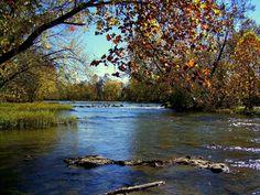 """View from """"Low Water Bridge"""", Joplin."""