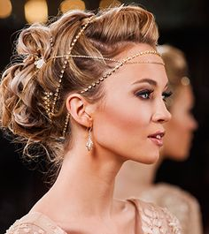 Eleventh Heaven   Headpieces, Crystal Strands in Silver or Gold