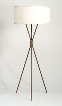 T.H. Robsjohn-Gibbings, Tripod Floor Lamp for Hansen, 1956.