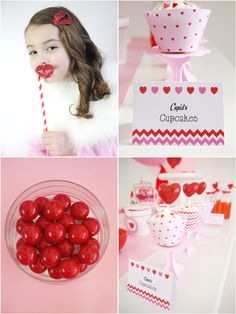 Sweetheart Valentine's Day Party ideas with DIY decorations, printables, desserts and favors! | BIrdsParty;com
