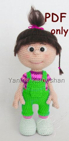 Little baby girl crochet doll PDF pattern by jasminetoys on Etsy