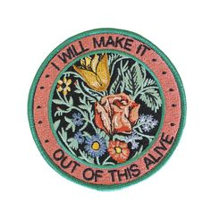 "We worked with Allison Weiss to design a series of 3 patches based on the lyrics from her new album New Love. This patch is inspired by the song ""Out Of This Alive"".åÊYour purchase of any patches from"