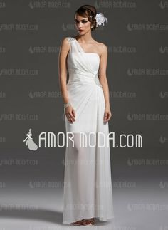 Special Occasion Dresses - $145.99 - Sheath One-Shoulder Floor-Length Chiffon Prom Dress With Ruffle Beading (018004790) http://amormoda.com/Sheath-One-shoulder-Floor-length-Chiffon-Prom-Dress-With-Ruffle-Beading-018004790-g4790