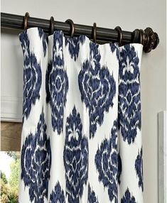 7 blue pattern curtains ideas