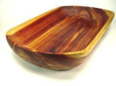 Beautiful hand made cedar bowl by wood artist 'Joe Marshall' of Twinwood Carving ~  Cedar Wooden Dough Bowl No 32