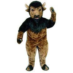 Brown Bison Mascot Adult Costume