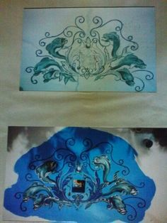 Swimming pool dolphins by Donzine Dolphins, Swimming Pools, Stencils, Swiming Pool, Pools, Stenciling