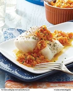 As delicious as fried fish can be, this recipe for steamed Cod Fillets with a carrot-ginger sauce will blow you out of the water.