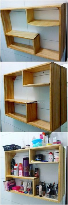 Valuable DIY Projects with Old Pallets Wood: Sometimes bringing the fresh ideas of the home furniture decoration would be adding something really inspiring and impressive taste of freshness. Pallet Lounge, Diy Pallet Sofa, Diy Pallet Projects, Pallet Furniture, Wood Projects, Pallet Crafts, Pallet Ideas, Furniture Design, Wood Plank Shelves