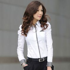 TLZC Women Shirt New Fashion Office Lady White Shirt 2017 Korean Casual Design Top Size Noble Charm Women Formal Blouse Fashion Over 50, New Fashion, Womens Fashion, Korean Fashion, Winter Fashion Outfits, Women's Fashion Dresses, Fashion Blouses, White Shirts Women, Office Fashion Women