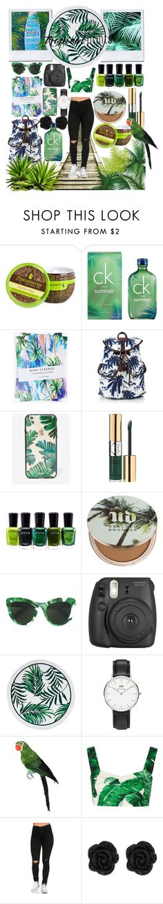 """tropical prints"" by anoo17k ❤ liked on Polyvore featuring Calvin Klein, Nikki Strange, Superdry, Sonix, Yves Saint Laurent, Zoya, Urban Decay, Dolce&Gabbana and Daniel Wellington"