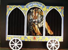 Circus Wagon with Animal Cutout -- available for rent from PropsUnlimited.com