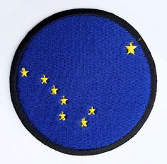 Alaska State Flag Patch USA American AK MOD Scooter Embroidered Iron on  Patch Logo Badge Crest 0e8d01c27489