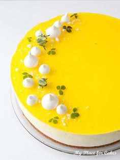 Cheesecake med citron og hvid chokolade - My Place for Cakes Cake Decorating Supplies, Cake Decorating Techniques, Diy Dessert, Dessert Recipes, Lemon Cheesecake, Cheesecake Recipes, Cheesecake Decoration, Scones Ingredients, Cupcakes