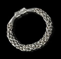 Bracelet of silver, part of Viking Age silver hoard found at Skaill, Sandwick, Orkney, deposited 950 - 970 AD