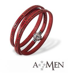 AMEN Bracelet - Our Father in Latin - Size M - Red