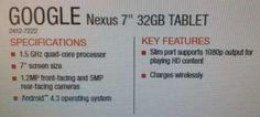 Nuovo Nexus 7 2 Avrà Andoid 4.3 e la ricarica Wireless on board