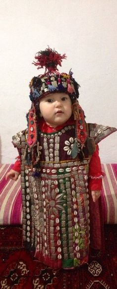 old dress kids dress vintage clothes uzbek dress by akcaturkmen, $450.00