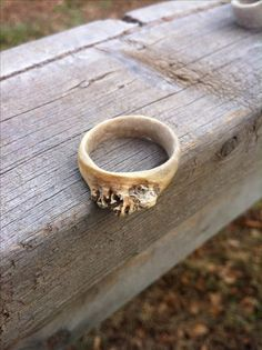 Antler, naturally shed, white tail deer ring. . Wanderinarrow@gmail.com