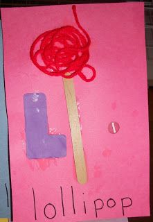 L is for lollipop