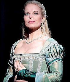 Mezzo Soprano Elina Garanca in Costume for Anna Bolena