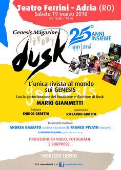 Genesis al 100%, la locandina di Dusk L'unica rivista al mondo sui Genesis festeggia 25