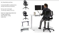 Business Furniture, Office Furniture, Sit Stand Desk, Hard Days, The Office, Beautiful, Halcyon Days