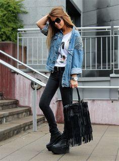 love the jean jacket.