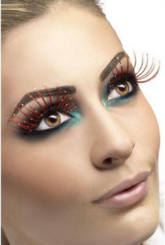 f8ca501d0bc Fun Stylish Feather Fake Eyelashes Costume Long Thick Colorful Eye Lashes  Makeup   eBay