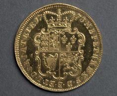 Two Guineas [pattern] (reverse), 1773 designed by John Sigismund Tanner (British)  gold