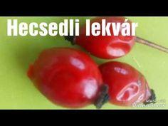 Csipkebogyó lekvár (hecsedli lekvár) készítése - YouTube Healthy Jam Recipe, Jam Recipes, Marmalade, Youtube, Make It Yourself, Fruit, Youtubers, Youtube Movies