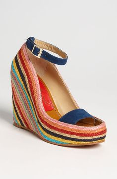 Turn up the heat, you sizzle vivaciously!! Intensity undefined, you're  hot, curvy and colorful in wedges that symbolize- you.